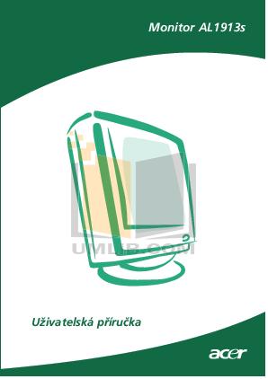pdf for Acer Monitor AL1913 manual