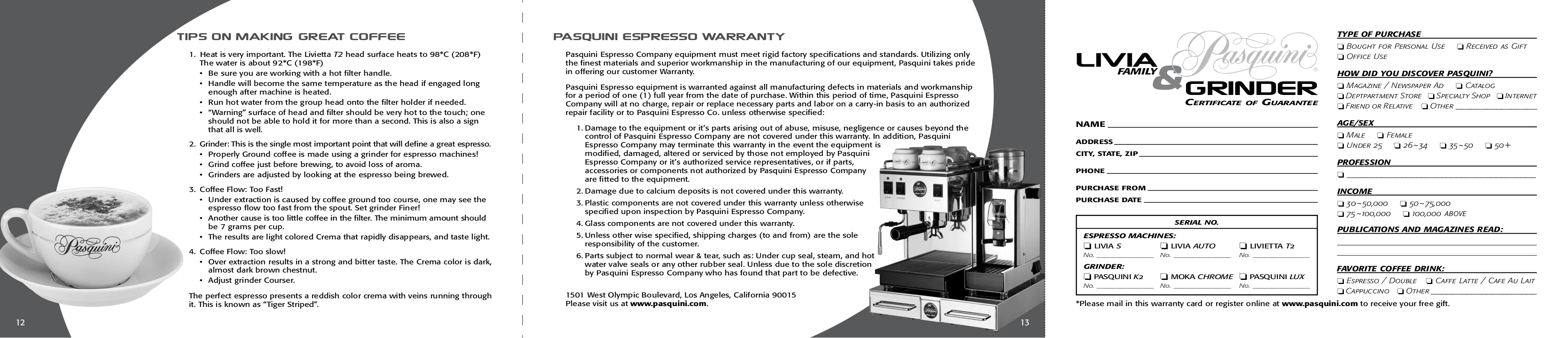 Pasquini Other K2 Grinders pdf page preview