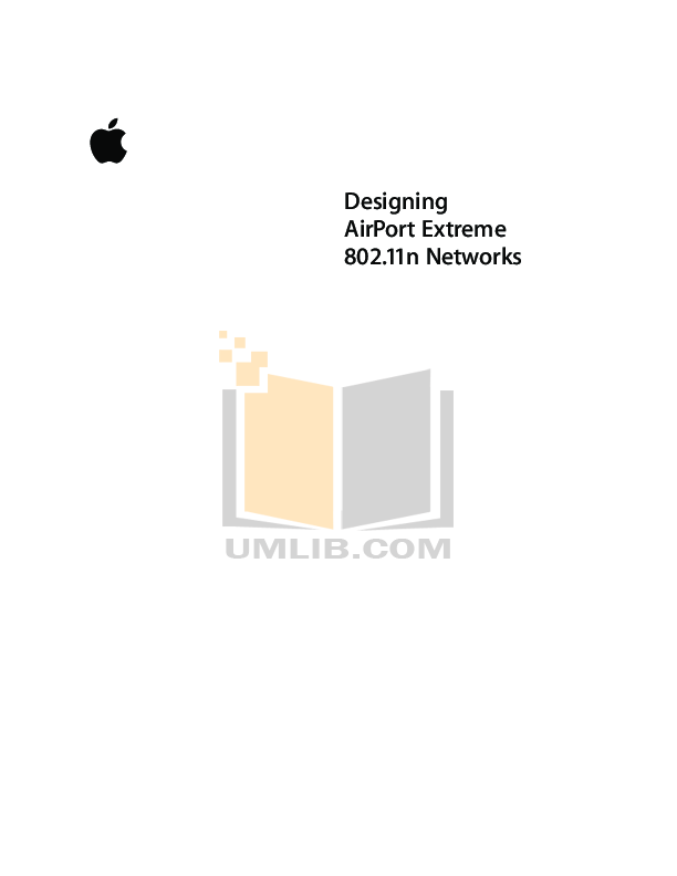 pdf for Apple Wireless Router AirPort Extreme manual