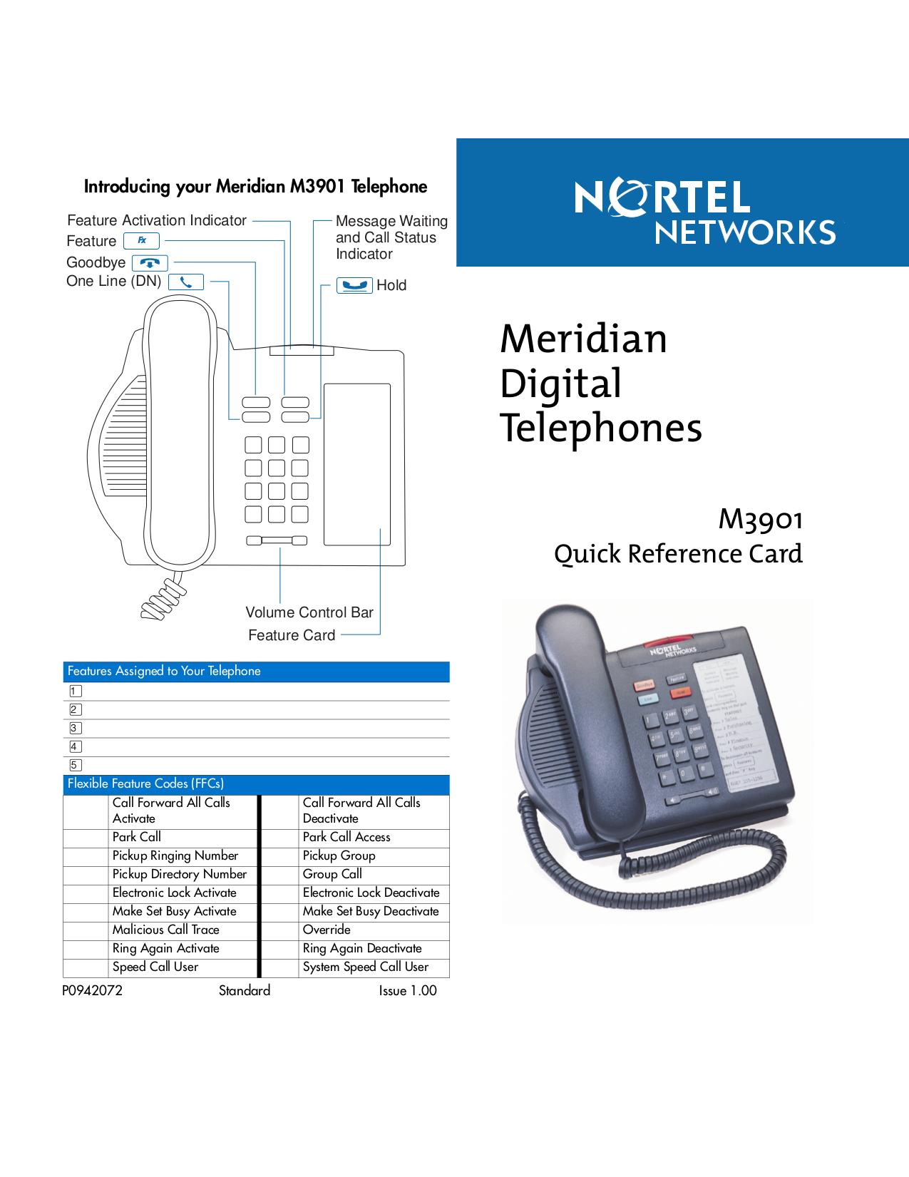 Instruction manual For Nortel Norstar m7324