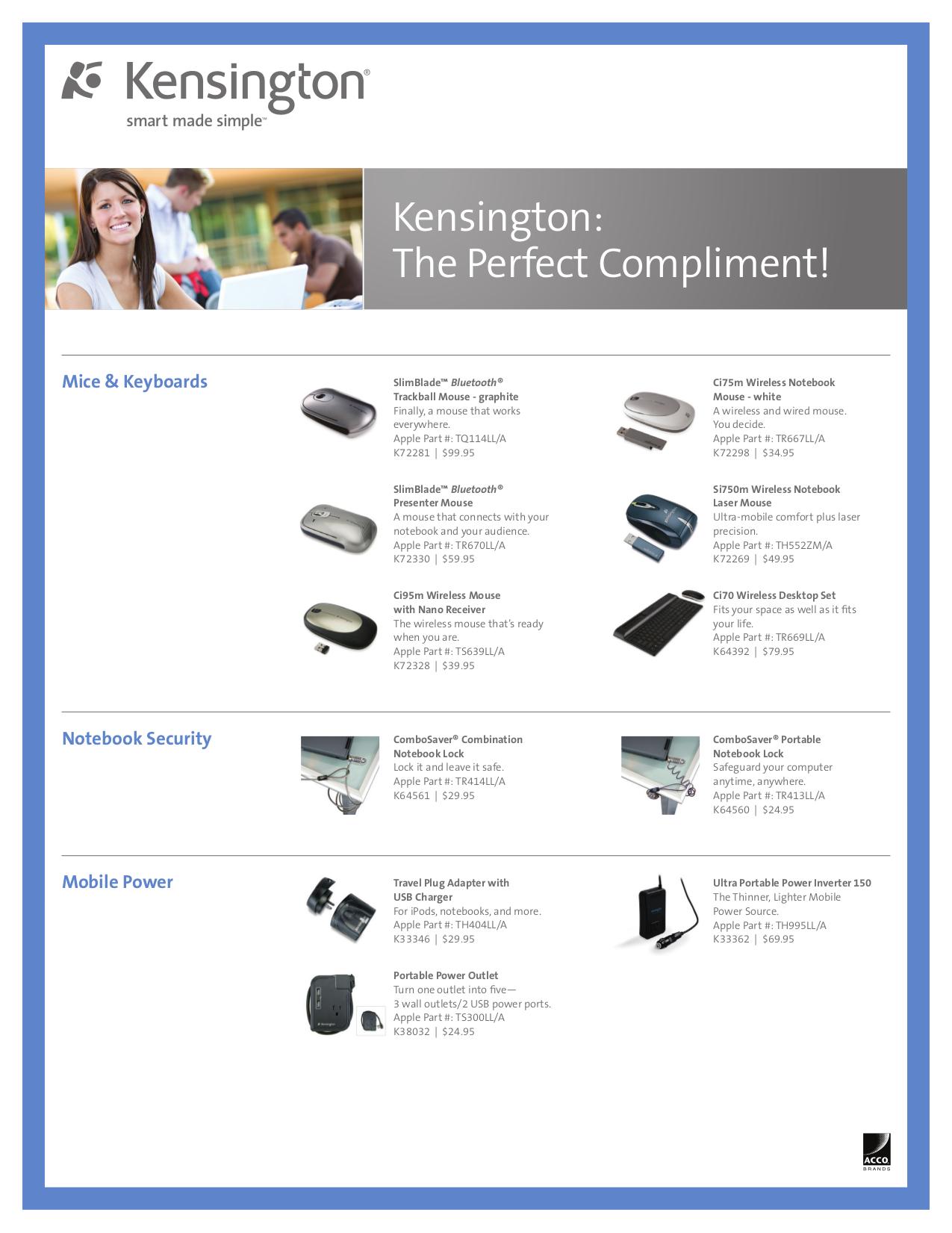 pdf for Kensington Keyboard 33059 manual