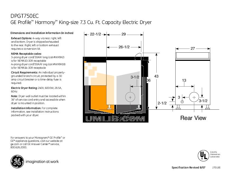 Ge Profile Washer service Manual