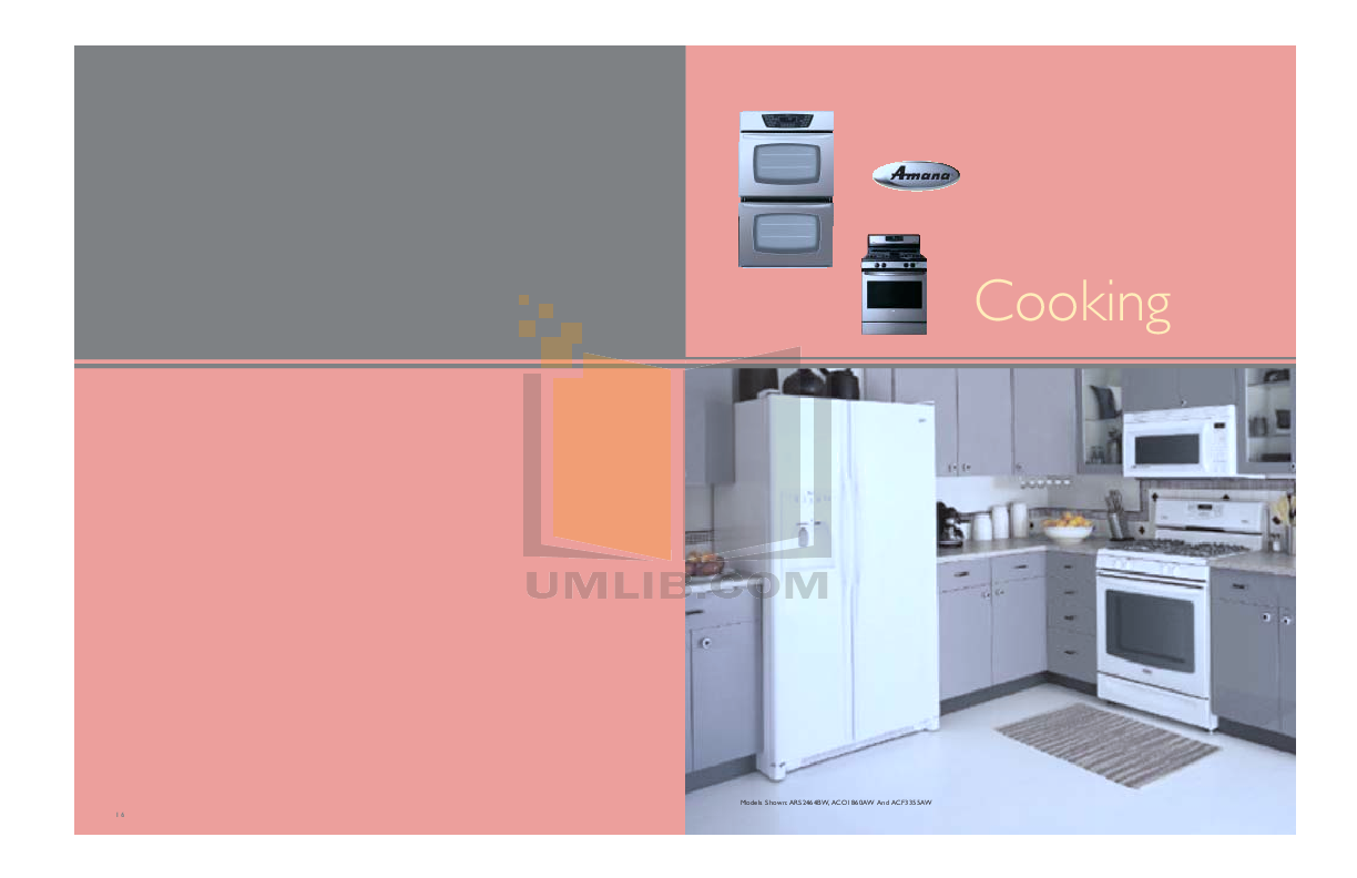 pdf for Amana Oven AEW4630DDS manual