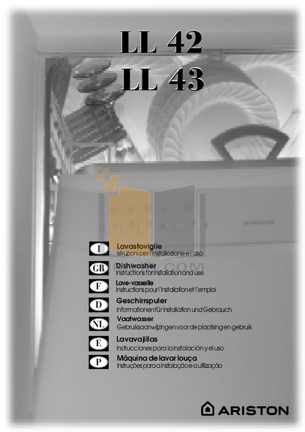 pdf for Ariston Dishwasher L 63 S NA manual