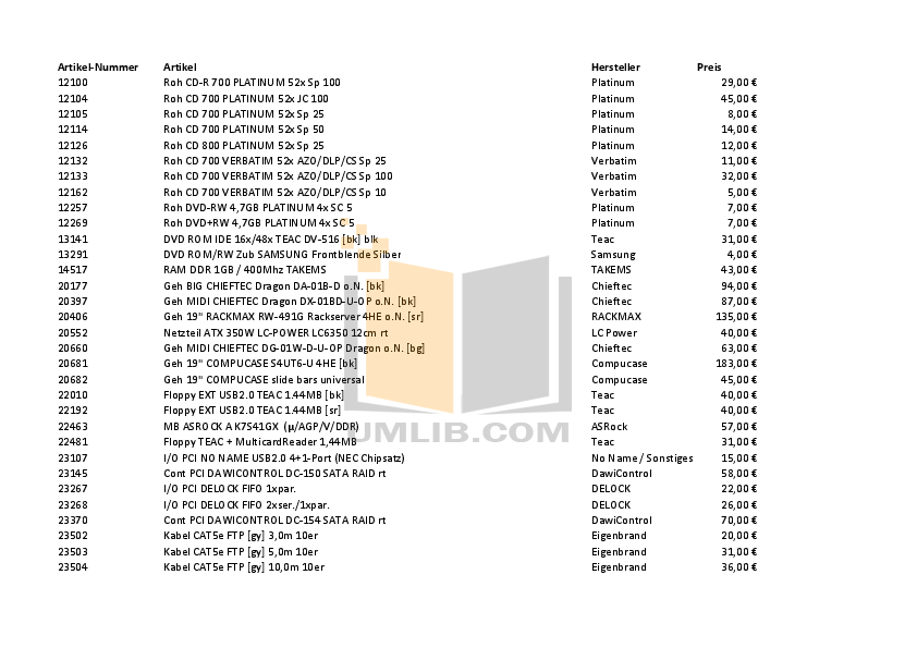 pdf for Fantec Other QB-35RFE Servers manual