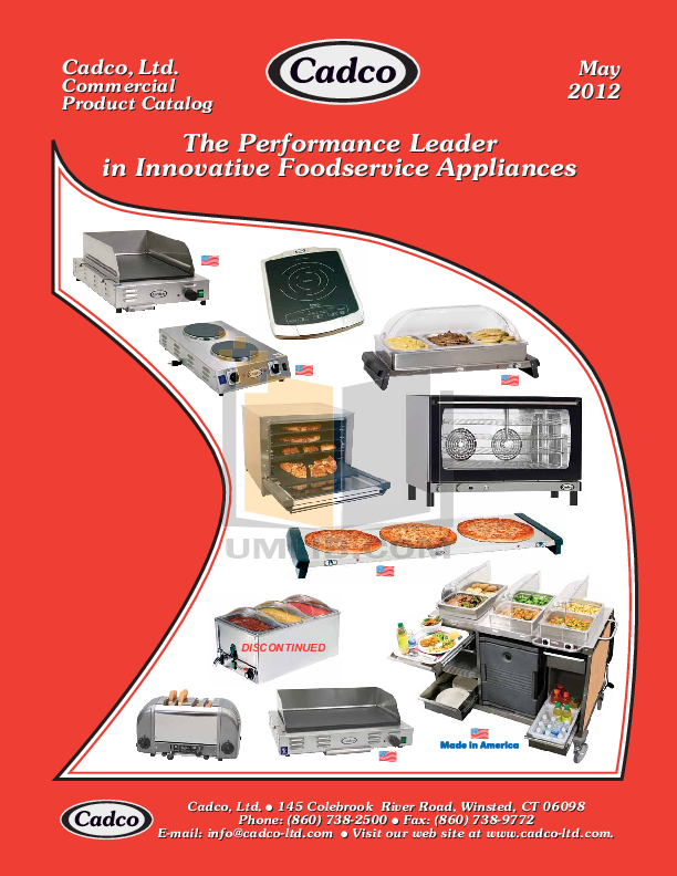 pdf for Cadco Other CBT-2 Toasters manual