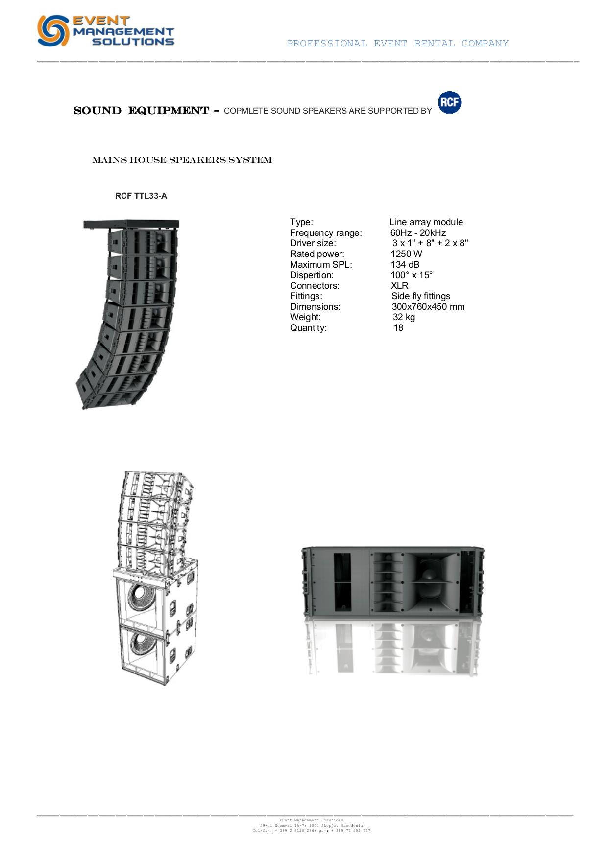 pdf for Mackie Speaker System PA152 manual