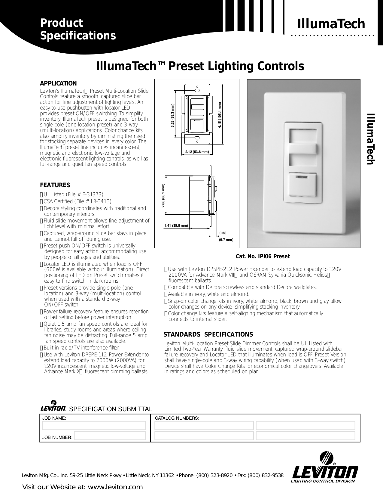 Download Free Pdf For Leviton Illumatech Ipx10 1 Dimmers Other Manual 3 Way Switch Failure