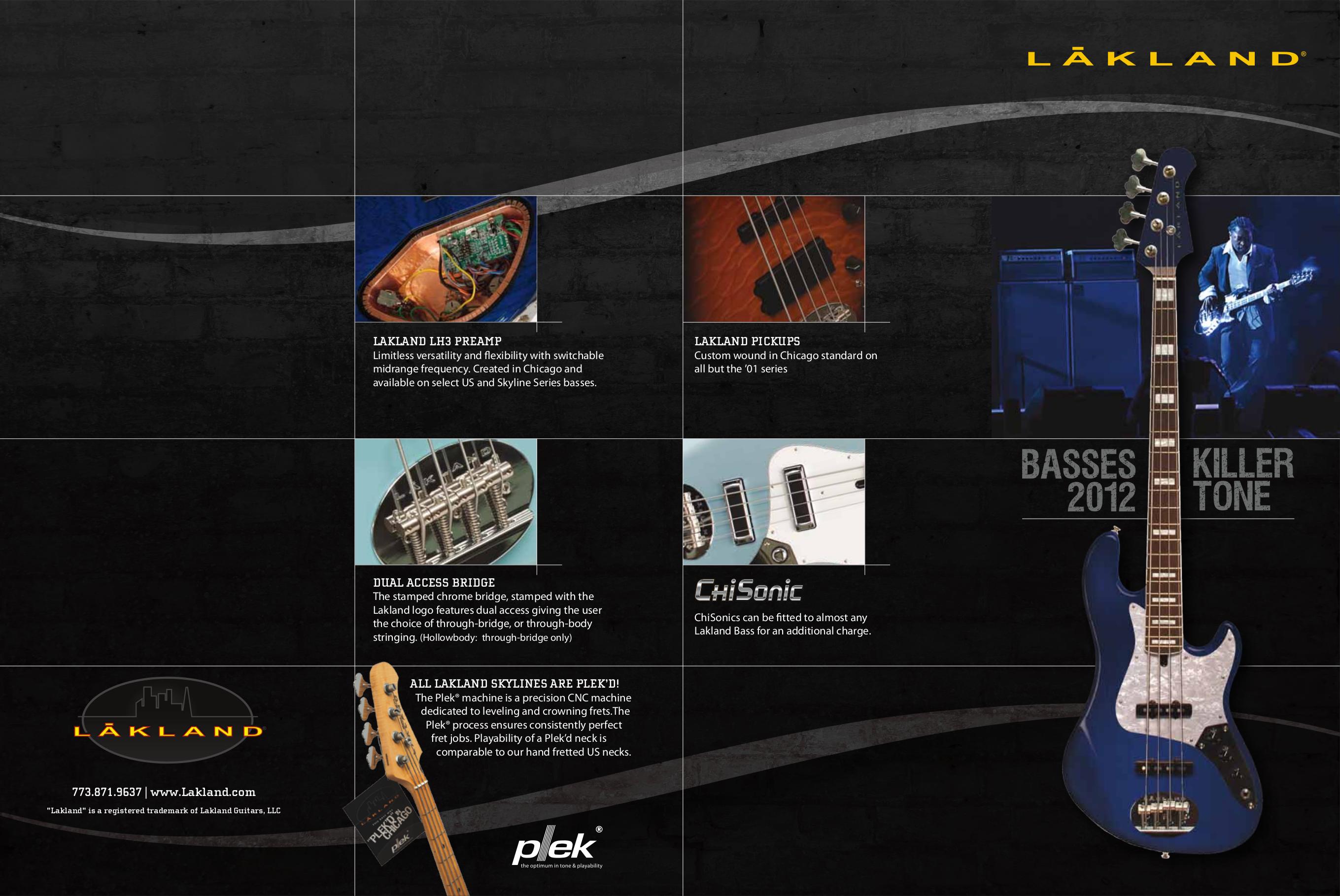 pdf for Lakland Guitar Skyline 44-01 manual
