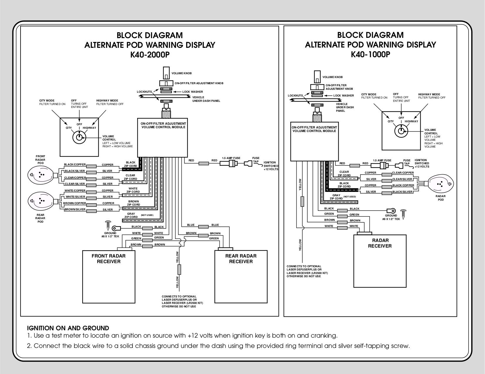 K40 Radar Detector Wiring Diagram And Schematics Free Picture Schematic 1000 Pdf Page Preview