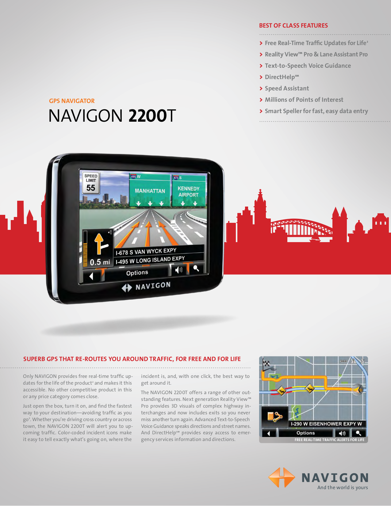 pdf for Navigon GPS 2200T manual