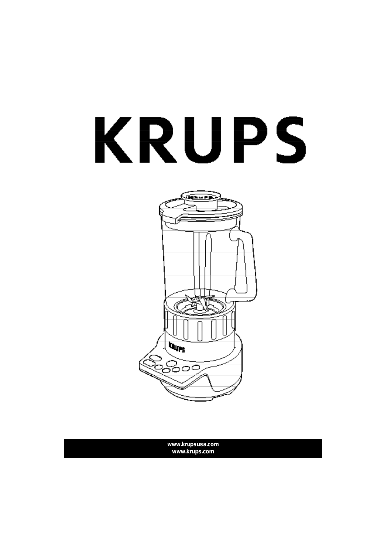 pdf for Krups Blender KB720 manual