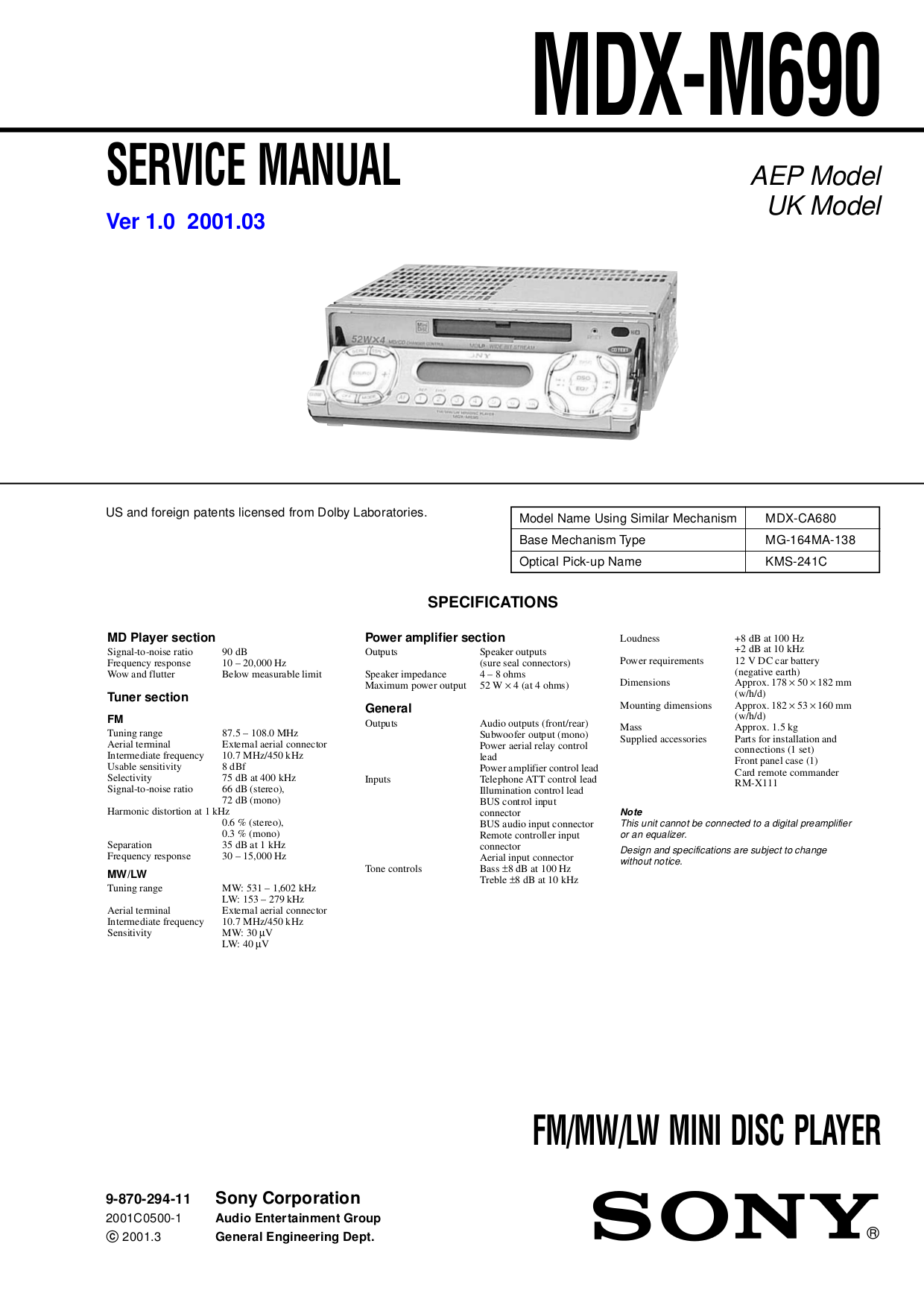 Download Free Pdf For Sony Cdx S11 Car Receiver Manual M620 Wiring Diagram