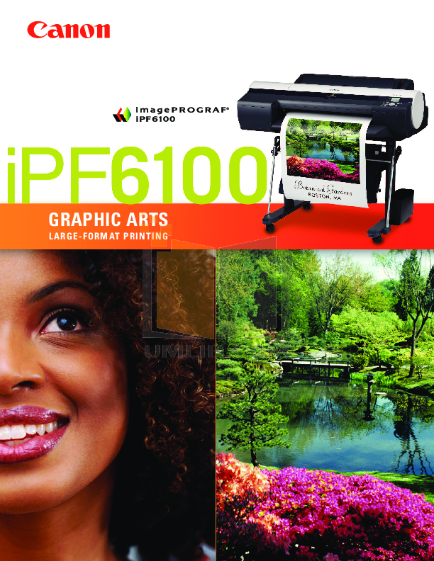 pdf for Canon Printer imagePROGRAF iPF6100 manual