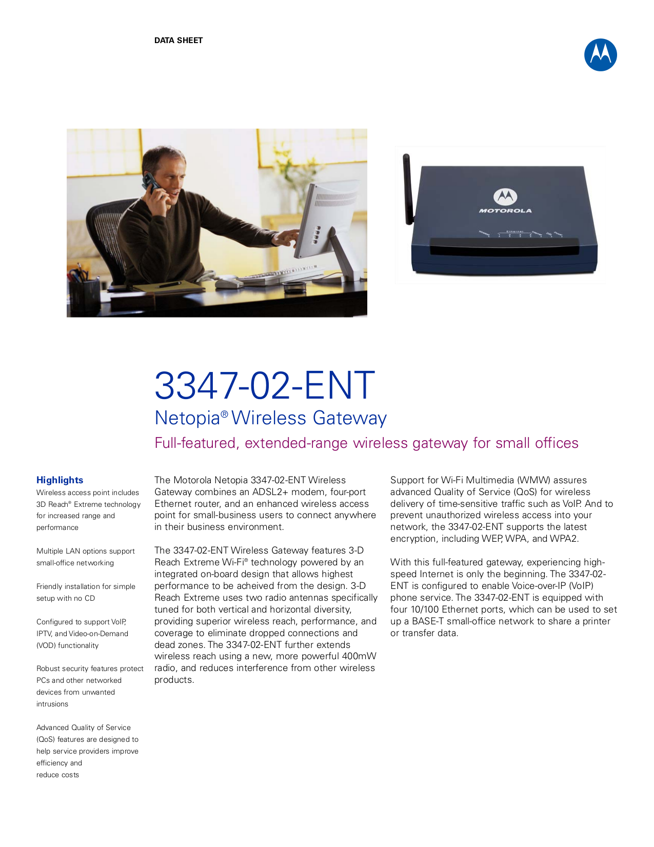 pdf for Netopia Wireless Router 3347NWG-ENT manual