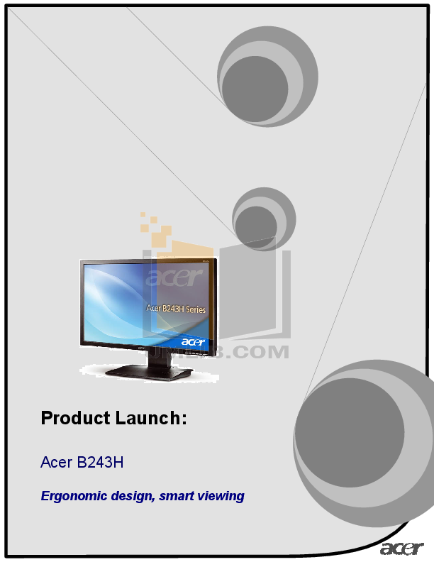 pdf for Acer Monitor B243H manual