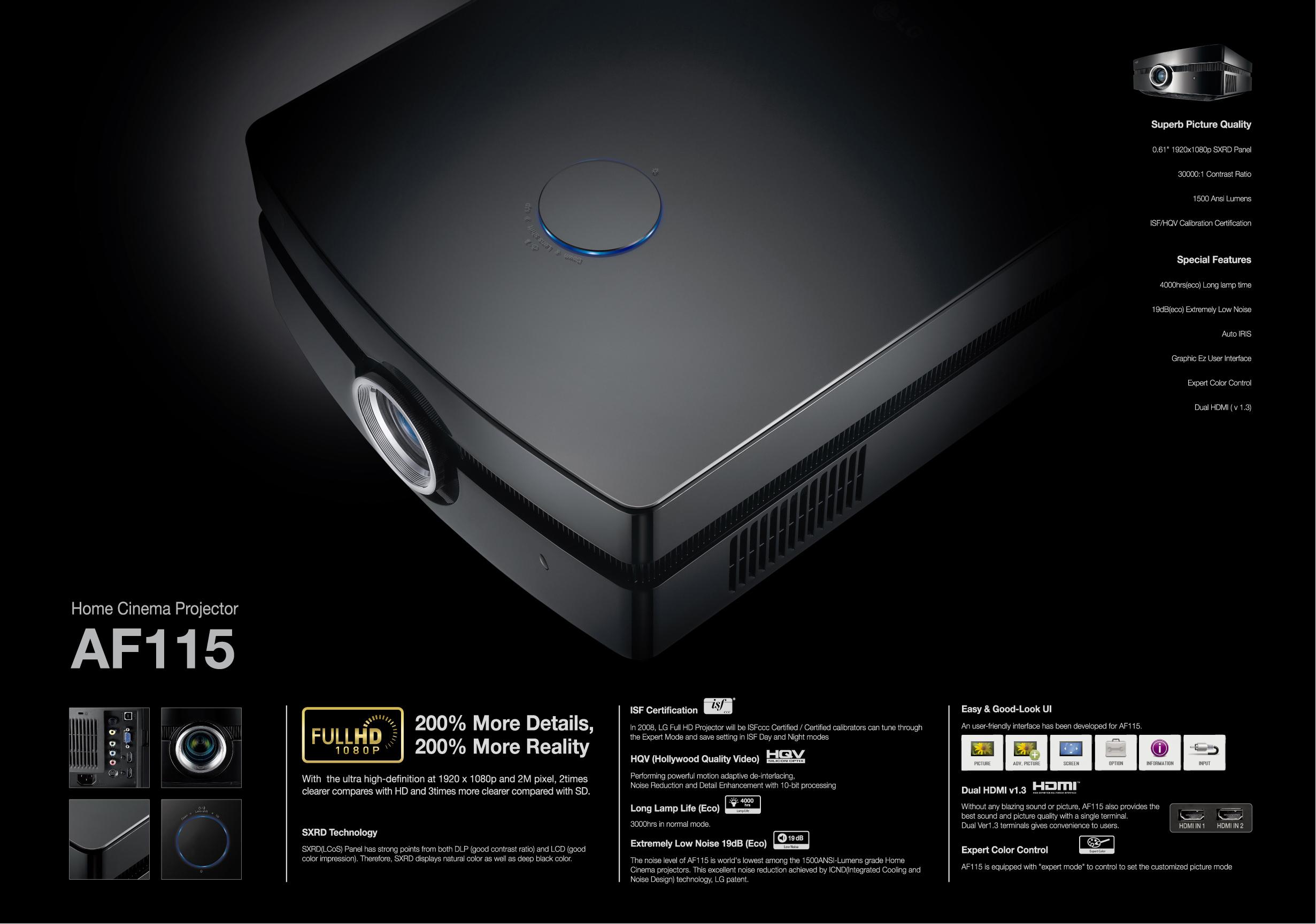 pdf for LG Projector AF115 manual