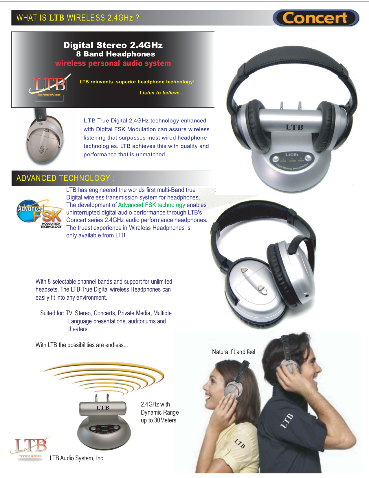 pdf for LTB Headset LTB-WR-ST manual