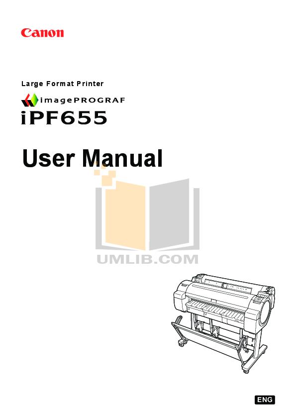 pdf for Canon Printer imagePROGRAF iPF655 manual