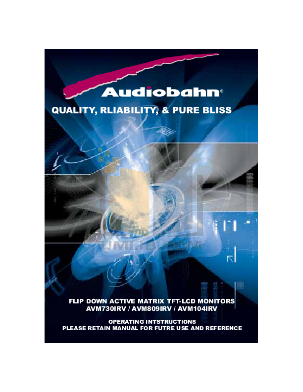 pdf for Audiobahn Car Video AVM104IRV manual