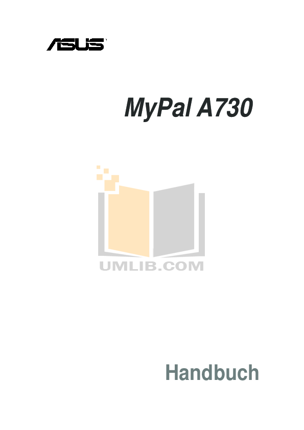 pdf for Asus PDA MyPal A730 manual