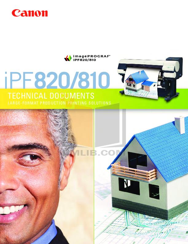 pdf for Canon Printer imagePROGRAF iPF810 PRO manual