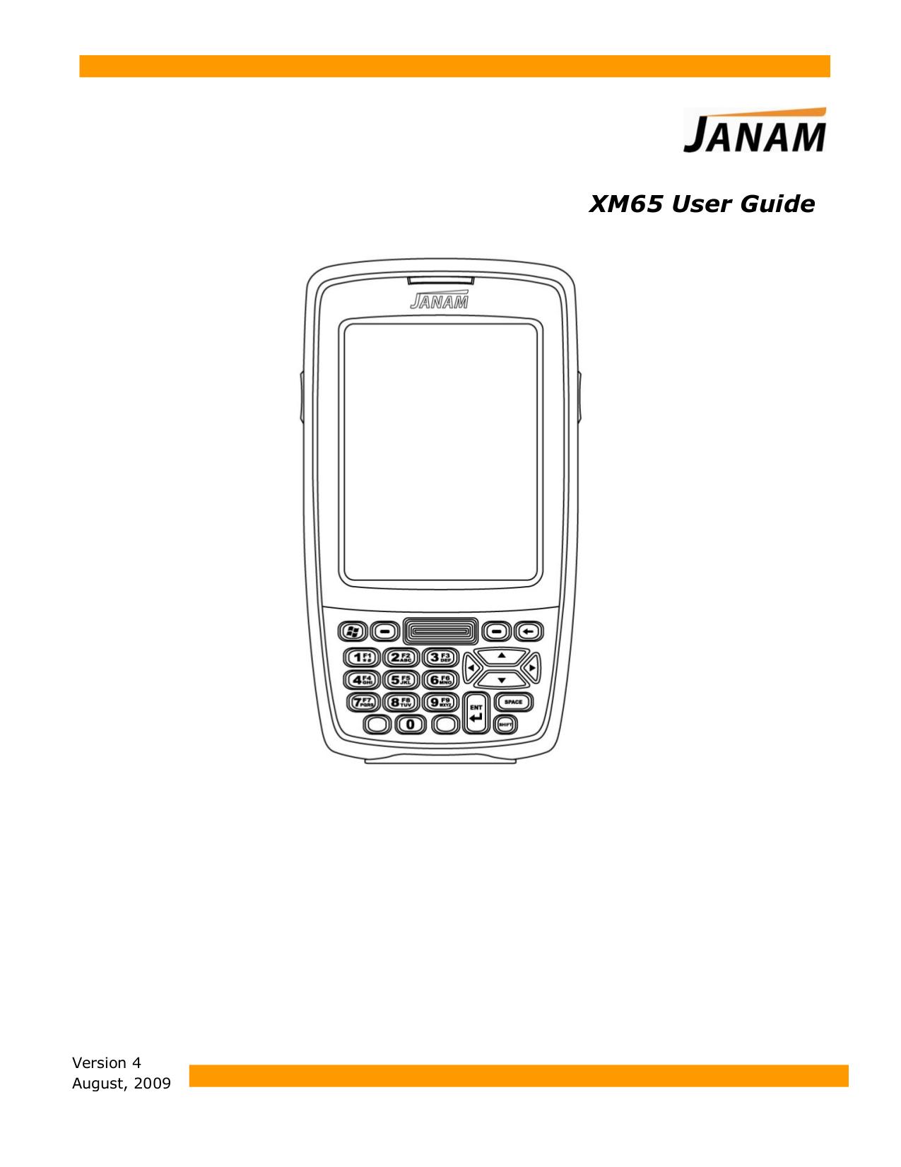 pdf for Janam PDA XM65 manual