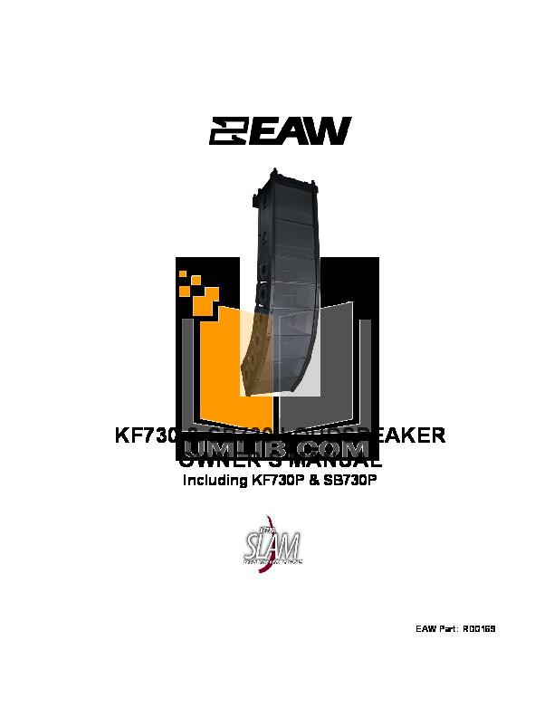 pdf for Eaw Subwoofer SB730 manual